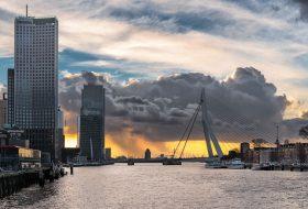 Rotterdam in guur weer